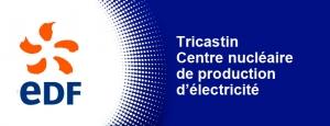 Logo du centre nuclaire EDF du Tricastin