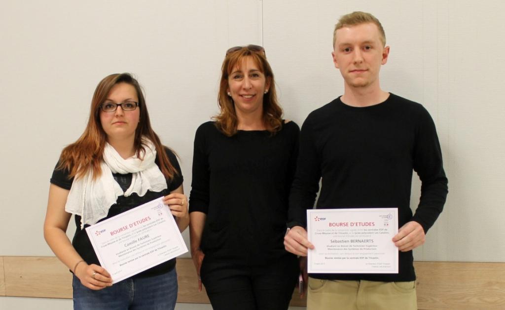 Deux des quatre lauréats, Camille Faure et Sébastien Bernaerts ont bénéficié d'un accompagnement pédagogique.